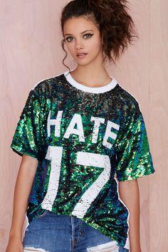 Hi Haters Sequin Tee | Shop Tops at Nasty Gal