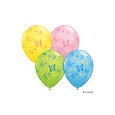 Luftballons Tiere - Schmetterlinge Ø 28 cm - Qualatex - 5 Stück