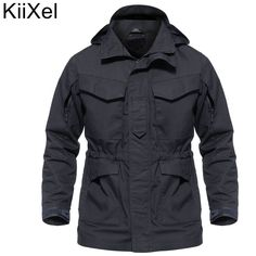 746495bf55325 M65 UK US Men Autumn Flight Pilot Coat Army Clothes Casual Tactical Hoodie  Military Field Jacket