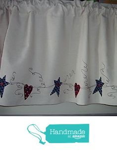 Americana Natural Ticking Window Valance From Primitive Country Loft House