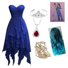 A fashion look from August 2015 featuring Paul Andrew sandals and 1928 hair accessories. Browse and shop related looks. Cosplay Outfits, Dress Outfits, Dress Up, Cute Outfits, Girls Fashion Clothes, Girl Fashion, Fashion Outfits, Disney Dresses, Disney Outfits