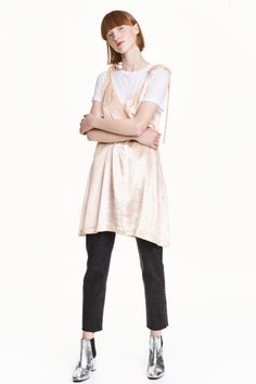 Бархатное платье - Пудра - | H&M RU 1