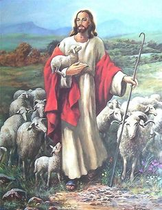 Jesus The Shepherd hold Lamb With Sheep Wall Art Print Picture Oh Glorious Day, Jesus Shepherd, Girls Magazine, Jesus Art, The Good Shepherd, Jesus Is Lord, God, Spanish Artists, Jesus Pictures