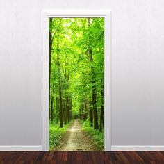 Forest Door Sticker - Moon Wall Stickers