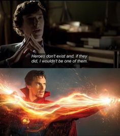 Pretty amusing... the two Sherlocks of our generation are actually Marvel superheroes xD<<