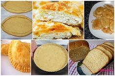 Όλες οι βασικές ζύμες σε ένα άρθρο! (Ζύμη σφολιάτα, κουρού, κρούστας, πίτες, πίτσα, κρέπες, πεϊνιρλί,… Greek Recipes, Desert Recipes, Cooking Time, Cooking Recipes, Easy Recipes, Bread Cake, Finger Foods, Cornbread, Baked Goods