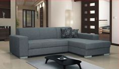 Miami Fabric Sofa Bed Corner With Storage - Available In LH or RH - Brand New