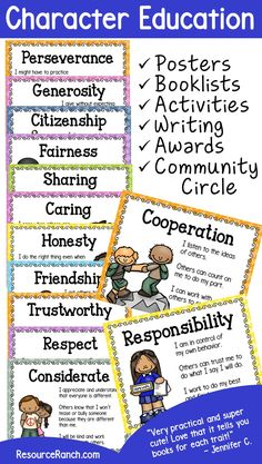Teaching Character Traits | Things I Love for School | Pinterest ...
