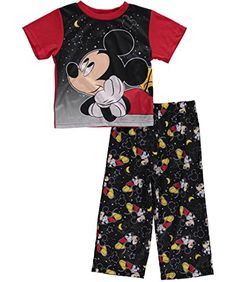 NEW Mickey Mouse club 2pc Outfit Disney Junior Ears Shirt Shorts Boys Size 2T 5T