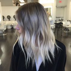 light+brown+and+blonde+shaggy+balayage+hair