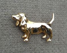Adorable BEATRIX JEWELRY Vintage DACHSHUND Brooch...Figural Sausage Dog Jewellery...Retro Canine Animal Brooch...Signed! by SlimandSugar on Etsy
