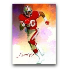 ACEO 2014 JERRY RICE # 4 SF 49ERS 54/100 LIMITED ART SKETCH CARD ARTIST SIGNED