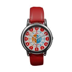 Kids learn to tell time red watch. Very clever AND cute! Designer Sarah Trett sold her 1st one today!