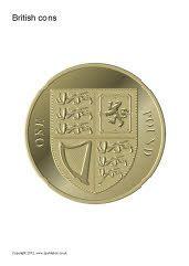 Large British coins set.