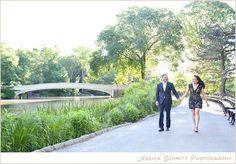 Jessica Schmitt Photography, central park, bow bridge, nyc engagement photography