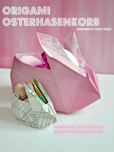 Origami Osterhasenkorb   Origami Rabbit-Box (by Jacky Chan)   Stampin' Up!   handmade by Gabriela   Kreativerfreiraum.de