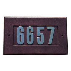 QualArc Manchester Cast Aluminum Address Plate Antique Copper - ADD-1410-AC