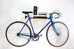 bike shelf by Elevated Wood, Remodelista