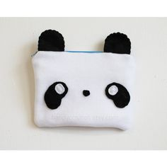 Panda Pouch Animal Make Up Bag, Kawaii Pencil Case, 3DS Case ($10) ❤ liked on Polyvore featuring beauty products, beauty accessories, bags & cases, toiletry kits, dopp bag, cosmetic purse, make up bag and dop kit