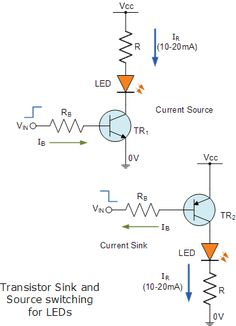 icu ~ LED Transistor Driver in 2019 Electronics Projects, Electronics Storage, Electronic Circuit Projects, Electrical Projects, Electronic Engineering, Electrical Engineering, Engineering Projects, Arduino Projects, Simple Circuit