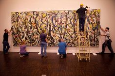 Mural, by Jackson Pollock being moved by some of my pals to the Des Moines Art Center.