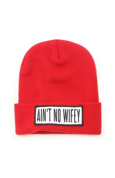 Dimepiece Ain't No Wifey Beanie #pacsun #dimepiece (THIS HAS BEEN ON CAMILLE'S WISHLIST SINCE SEPTEMBER 2012)