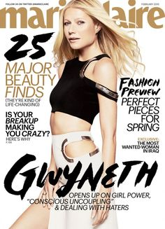 gwyneth paltrow marie claire magaine chris martin 01 Gwyneth Paltrow shows off her amazing body on the cover of Marie Claire magazine's February 2015 issue, out on newsstands on Tuesday, January Here's what… Love Magazine, Fashion Magazine Cover, Fashion Cover, Star Fashion, Fashion Beauty, Magazine Covers, Fashion Graphic, Daily Fashion, Fashion News