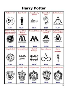 Harry Potter Decals by FandomChasers on Etsy