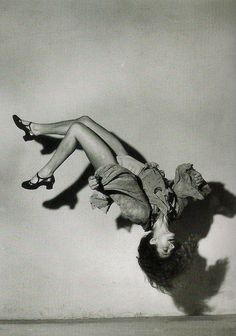 """Are these LEAPING LEGS going to make at all the way around?  The dancer isn't identified, but if """"Rita Hayworth dance or flip"""" is searched on Pinterest, this photo comes up from two different pinners. So until I learn otherwise, I'm proposing the most likely owner of these leaping legs and acrobatic ability is Rita Hayworth."""