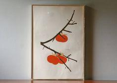 vintage print Persimmons (artist signed) from ModishVintage $98