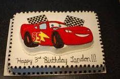 Image result for lightning mcqueen race car cake