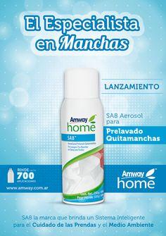 Novedades Amway - ¡NUEVO! SA8 Aerosol para Prelavado Quitamanchas