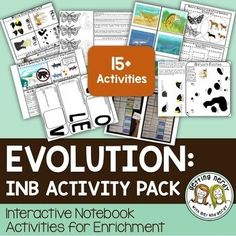 Evolution, Natural Selection & Adaptation - Interactive No Biology Lessons, Science Biology, Teaching Biology, Life Science, Science Notebooks, Interactive Notebooks, Evolution Science, Next Generation Science Standards, Science Activities