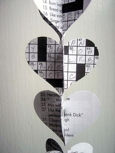 Crossword puzzle garland - and i go through a ton of these.  now i'm glad to have a reason to save them