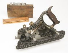 Fancy STANLEY Miller's Patent No. 41 Plow Plane With 8 Cutters