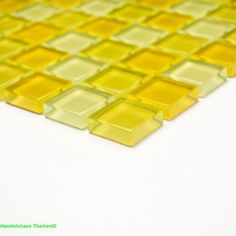 Crystal Glasmosaik gelb mix 2,5 x 2,5 x 0,8 cm