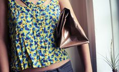 All The Good Girls Go To Heaven: ☩DIY☩ No Sew Leather Paper Bag Clutch
