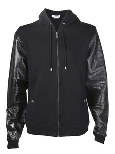 Versace - Leather Bomber Jacket love the detailing in the leather