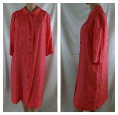 60s Dynasty #Silk #Boudoir Rose Pink dressing gown kimono oriental knot buttons  #Dynasty