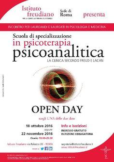 L'Istituto freudiano, scuola di specializzazione in psicoterapia ad orientamento psicoanalitico lacaniano, martedì 18 Ottobre 2016 ha organizzato un incontro gratuito aperto ai laureandi e laureati