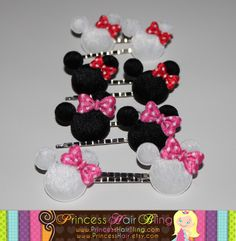 Minnie Mouse Hairpins.