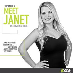 Meet Top Agent Janet Vidal, she will lead you home! Learn more about her: resf.com/janet-rodriguez #RESF #TopAgent #miamirealestate