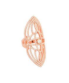 Look what I found on #zulily! Cubic Zirconia & Rose Gold Openwork Ring #zulilyfinds