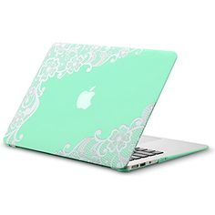 """Kuzy - AIR 13-inch Lace Mint GREEN Rubberized Hard Case for MacBook Air 13.3"""" (A1466 & A1369) (NEWEST VERSION) Shell Cover - Lace Mint GREEN Kuzy http://smile.amazon.com/dp/B00O5KOR3C/ref=cm_sw_r_pi_dp_Mqyzub174RC27"""