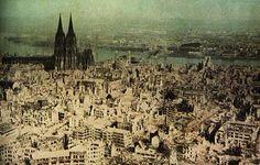FOTO. Así quedo Colonia, Alemania, tras la Segunda Guerra Mundial #Historia