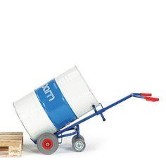 GTARDO.DE:  Fasskarre 2 Stützräder, Tragkraft 250 kg, Luft, Rad-Ø 260x85 mm, Maße 700x500 mm 223,00 €