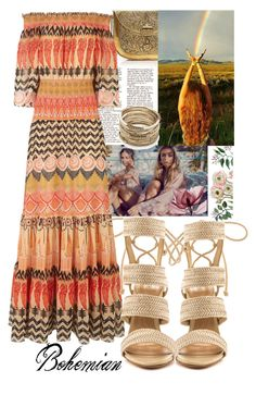 """""""Bohemian spirit"""" by francyilaria on Polyvore featuring From St Xavier, Temperley London, Schutz, Sole Society, Summer, boho, maxidress, trend and monday"""