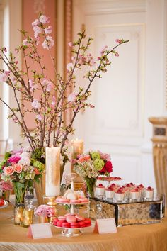 Pink and Green Wedding Dessert Table | photography by http://www.ashleybartoletti.com