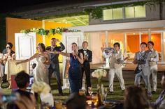 バンドをいれて屋外でのパーティ♪ サイコー!