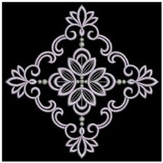 Ace Points Embroidery Design: Decorative Satin Quilt 3.82 inches H x 3.82 inches W